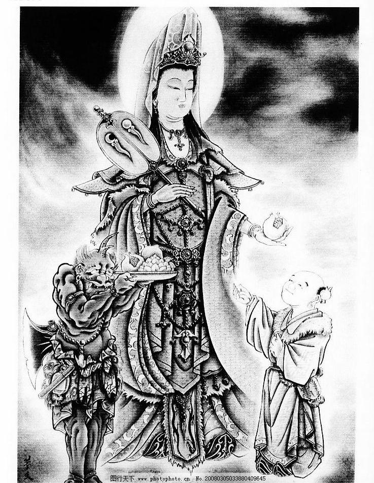 日本 中国 传统 神明 观音 鬼 纹身 刺青 其他 图片素材 日本纹身百鬼