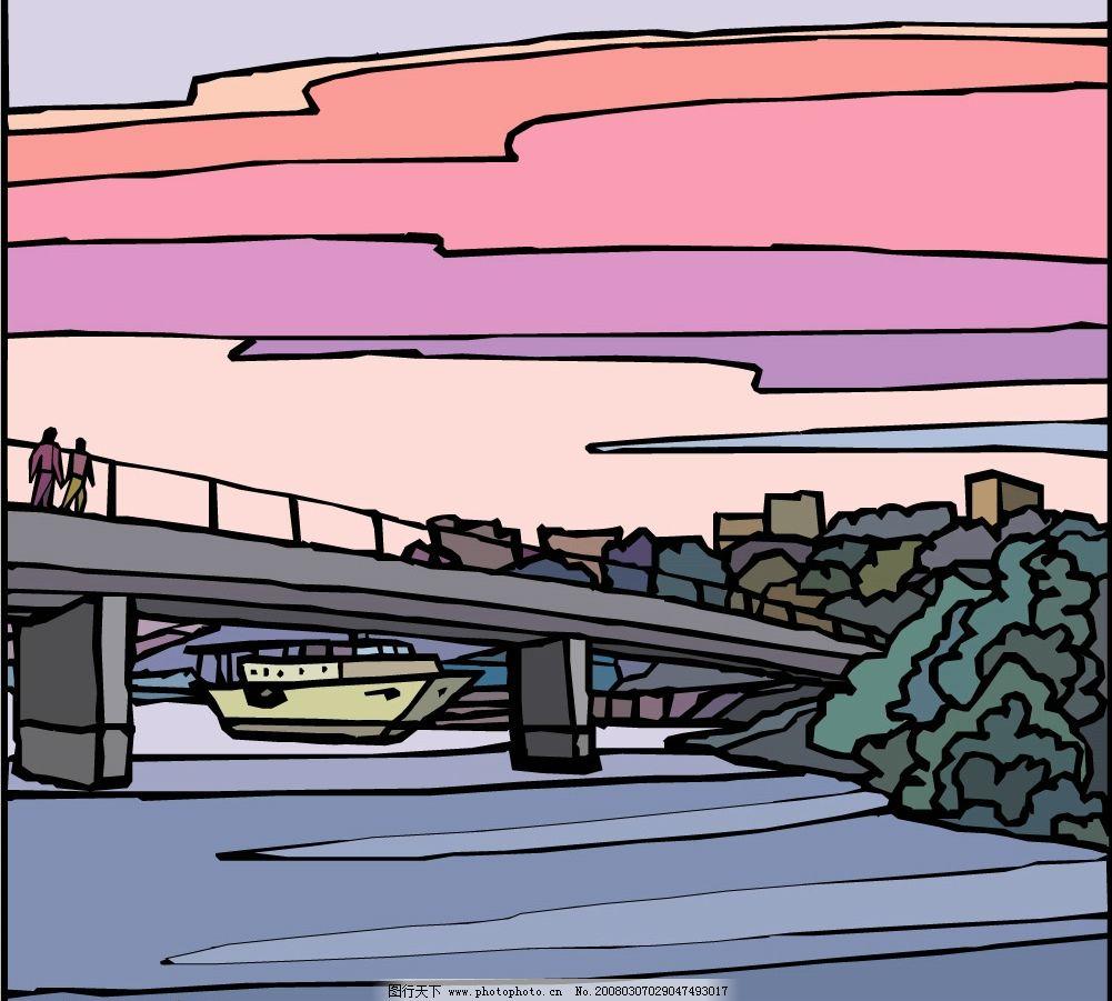 桥梁 建筑物 建筑家居 其他 矢量图库   eps