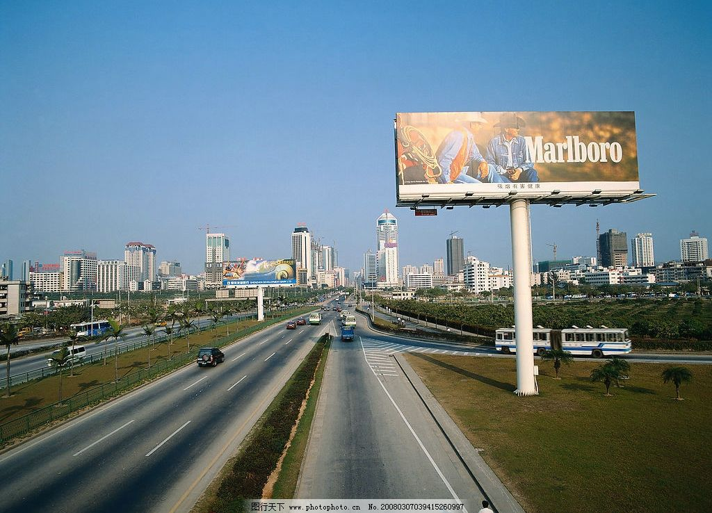 深圳城市风景,城市广告牌图片