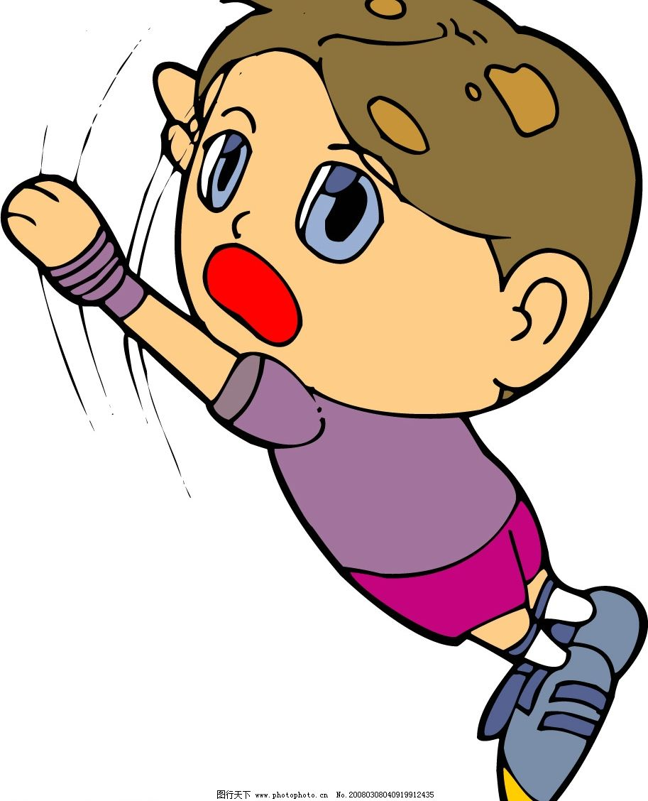 卡通男孩 可爱俏皮人物 卡通图库 矢量人物 儿童幼儿 矢量图库   ai