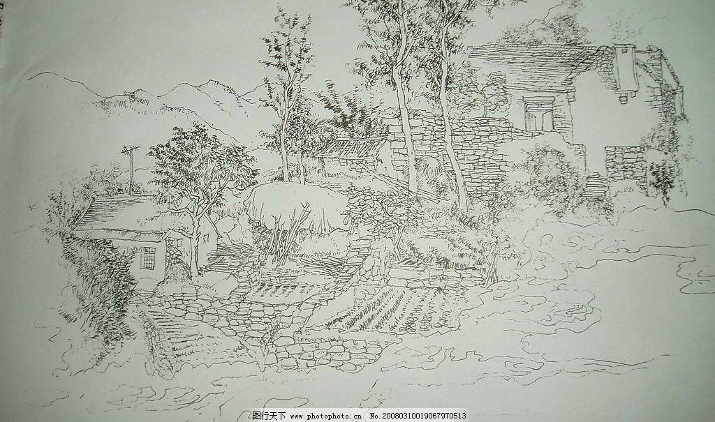 假山设计手绘图纸