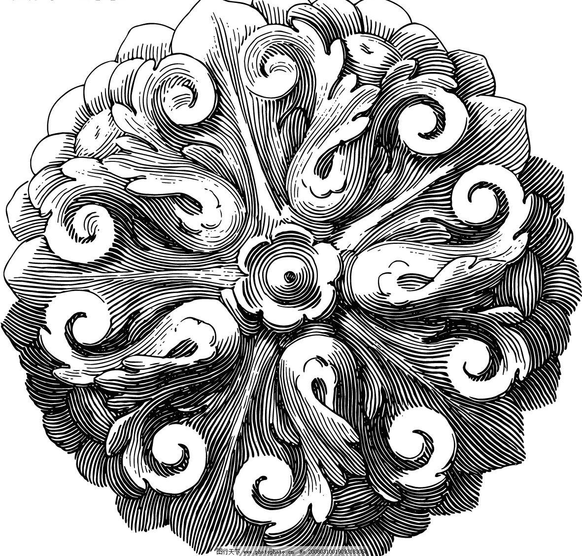 巴洛克文化花纹 文化艺术 美术绘画 矢量图库   eps