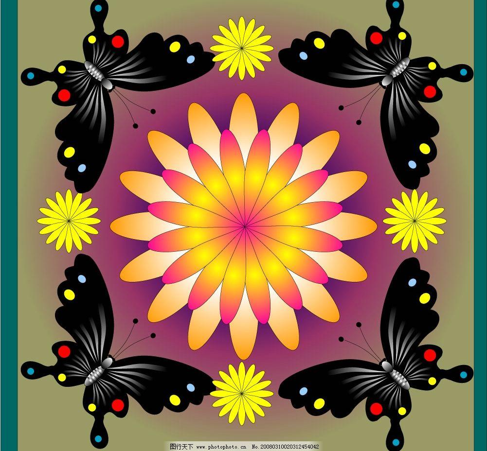蝴蝶图案 蝴蝶图案,适合图案. 底纹边框 花纹花边 矢量图库   cdr