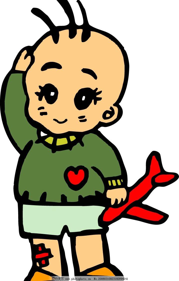可爱娃娃 卡通人物矢量图