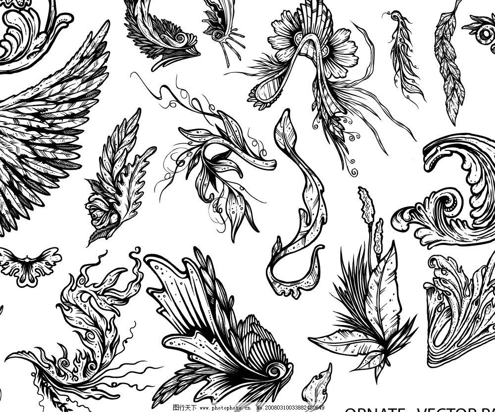 翅膀矢量图图片