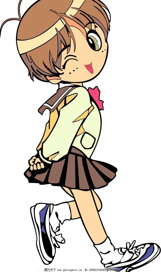 卡通人 可爱 矢量人物 儿童幼儿 卡通小孩 矢量图库   ai
