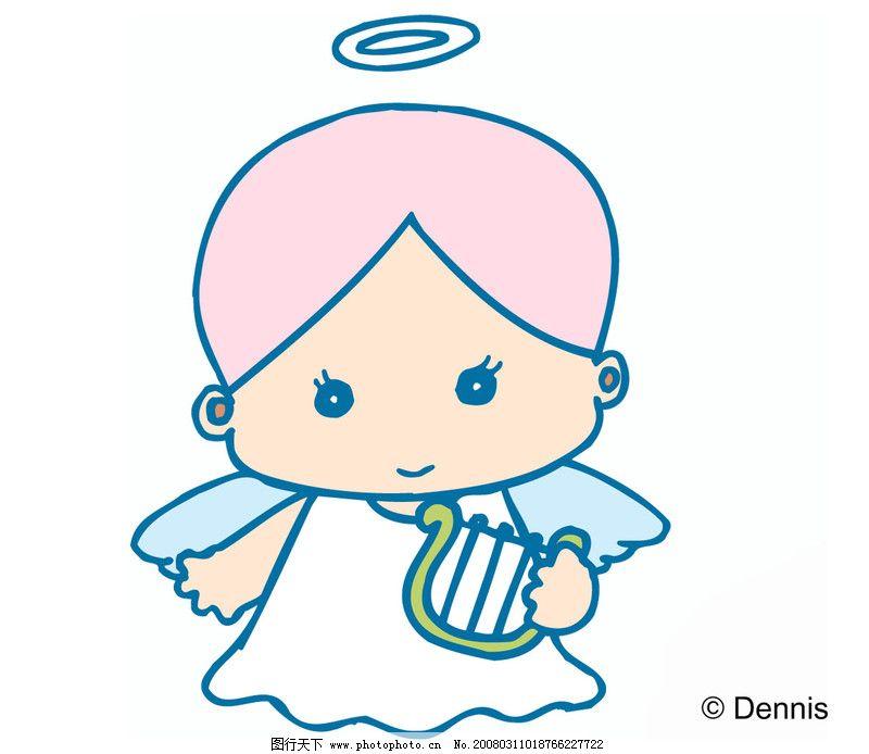 小天使0008_可爱卡通_动漫卡通_图行天下图库