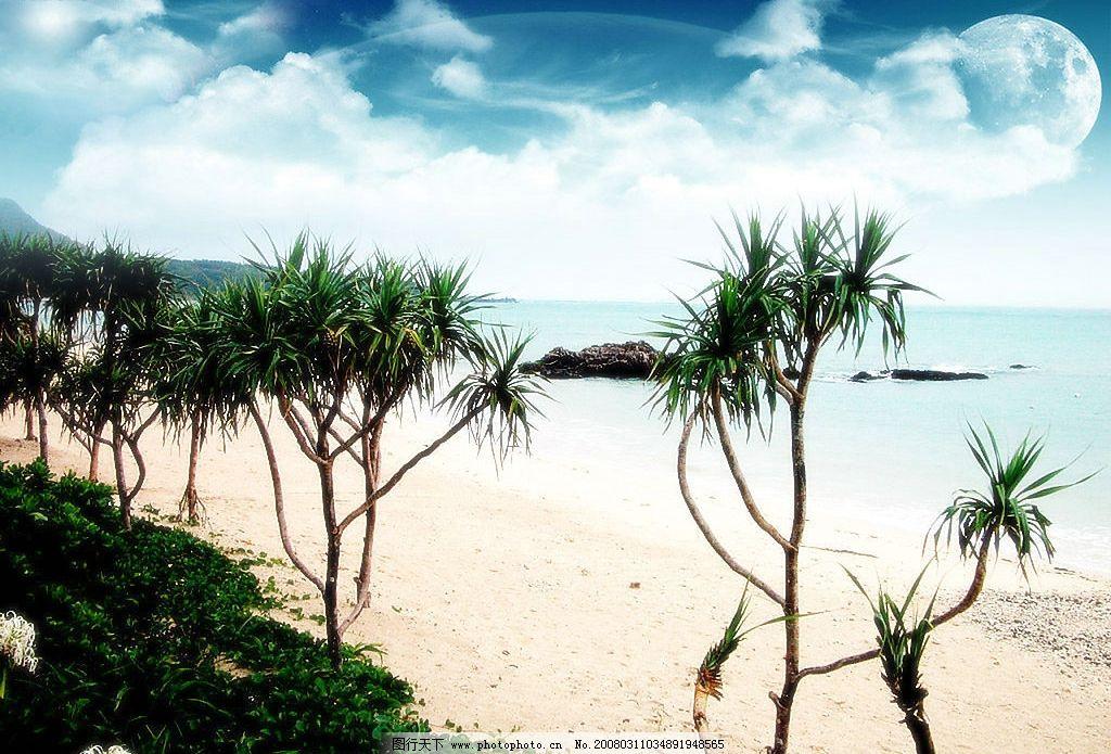 梦幻天空 蓝天 大海 自然 桌面壁纸 婚纱模板素材 梦幻 摄影 自然景观
