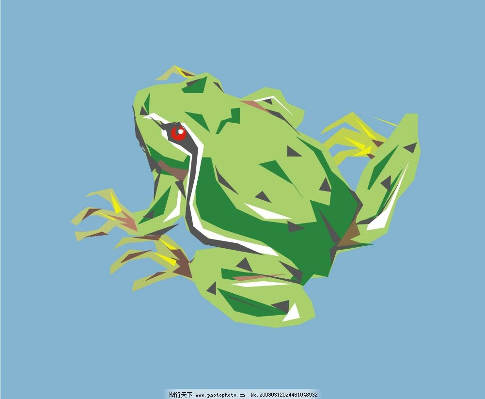 青蛙59 水底生物 动物 爬行动物 两栖动物 矢量图库 爬行类与两栖类