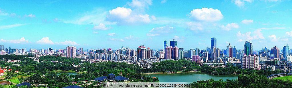 绿色广州城全景