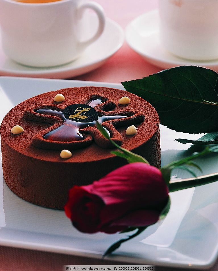 巧克力蛋糕 西餐 美食