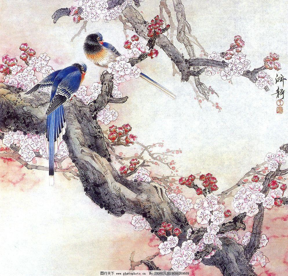 工笔花鸟画 工笔 工笔画 国画 鸟 花 名家 山水 名画 水墨画 文化艺术