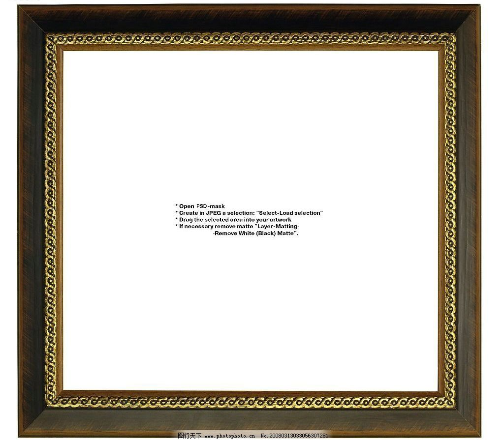 金属画框 金属 画框 质感 地产 psd分层素材 边框 源文件库   psd