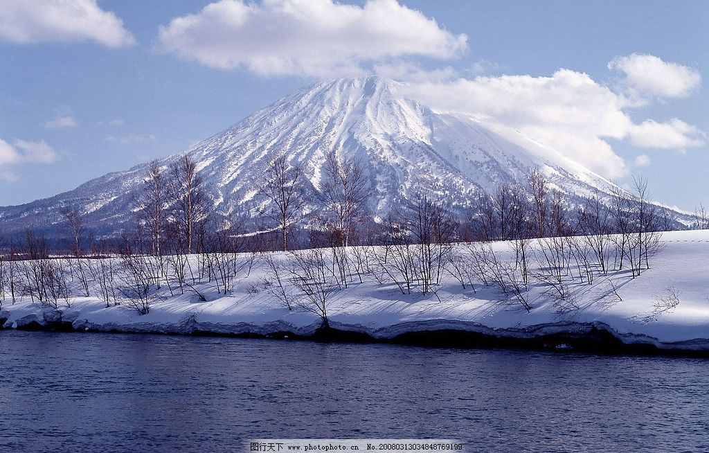 美丽 自然景观/北海道冬景图片