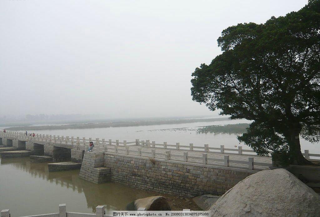 洛阳桥 惠安洛阳桥 自然景观 自然风景 晚霞 摄影图库 72 jpg
