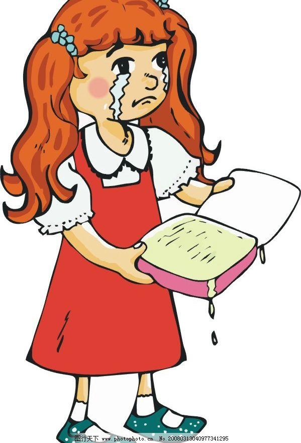 哭泣的小女孩图片