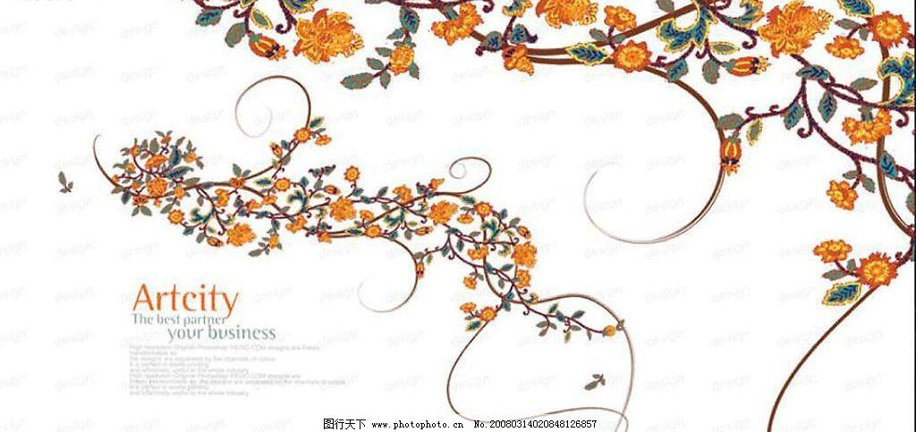 韩式精美花边 壁纸 底纹边框 其他素材