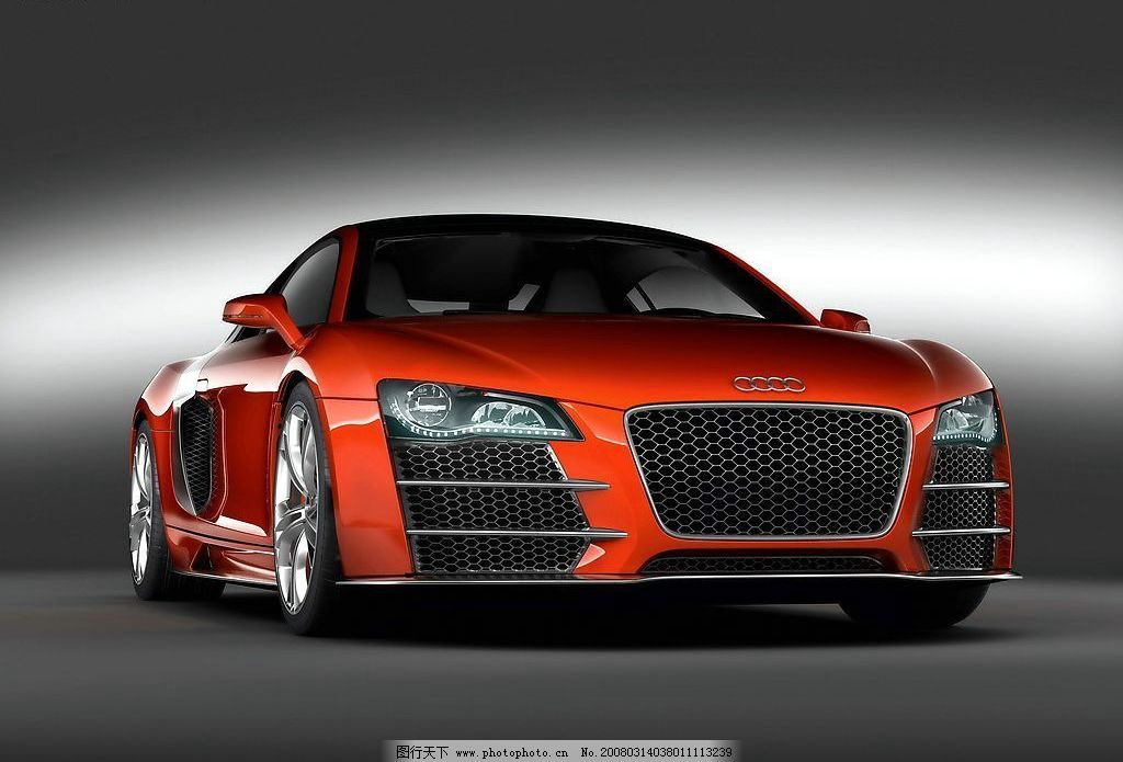 奥迪r8 跑车 红色 名车 壁纸 现代科技 交通工具 摄影图库