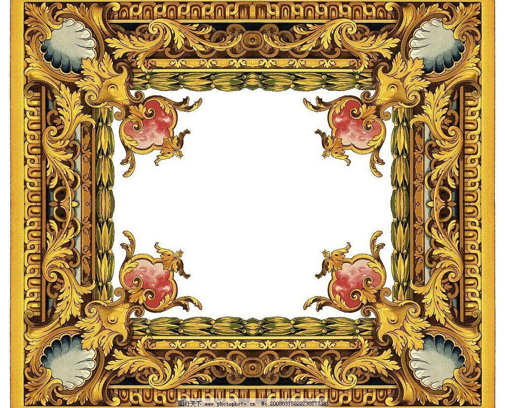 巴洛克纹饰 西方 底纹 线条 边框 图案 古典 漂亮 罗马 广告