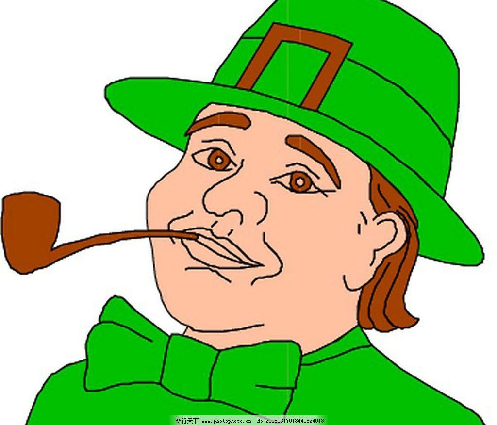 抽烟美女卡通图片