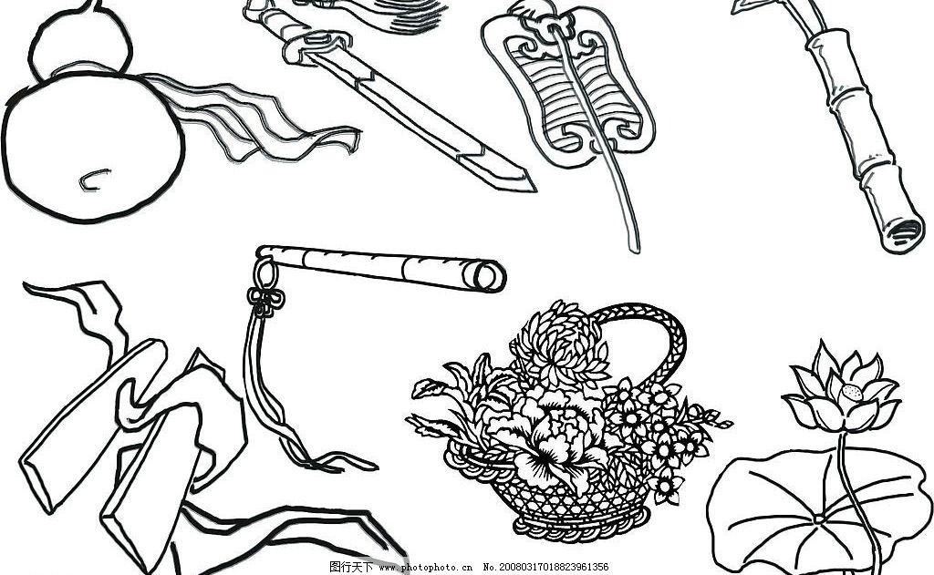 葫芦手绘图案简笔画