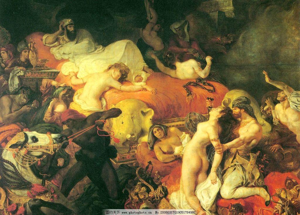 十九世纪欧洲绘画 油画 西方绘画 文化艺术 绘画书法 设计图库 180
