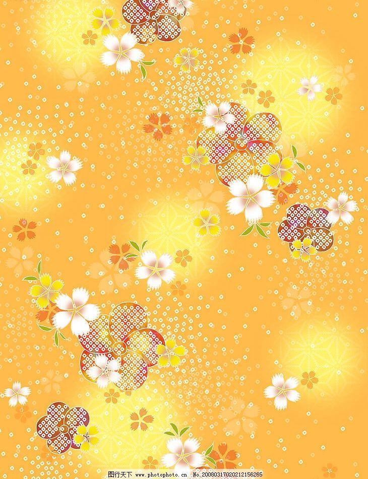 底纹 底纹黄色花朵 底纹边框 背景底纹 设计图库 350 jpg