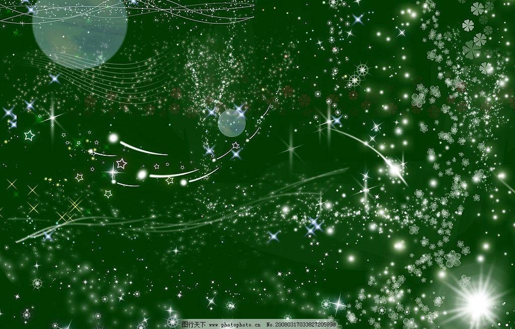 星空图 绿底 流星 光晕 星花 光点 其他 图片素材 设计图库 200 jpg图片