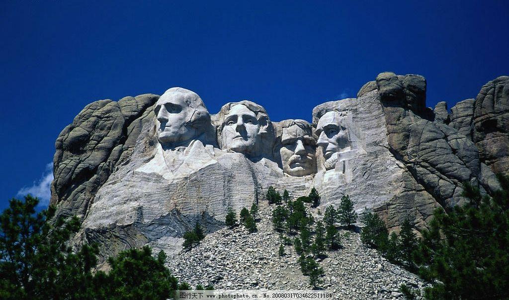 美国总统山总统雕像图片