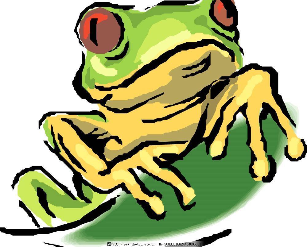 青蛙 水底生物 动物 爬行动物 两栖动物 生物世界 野生动物 矢量图库