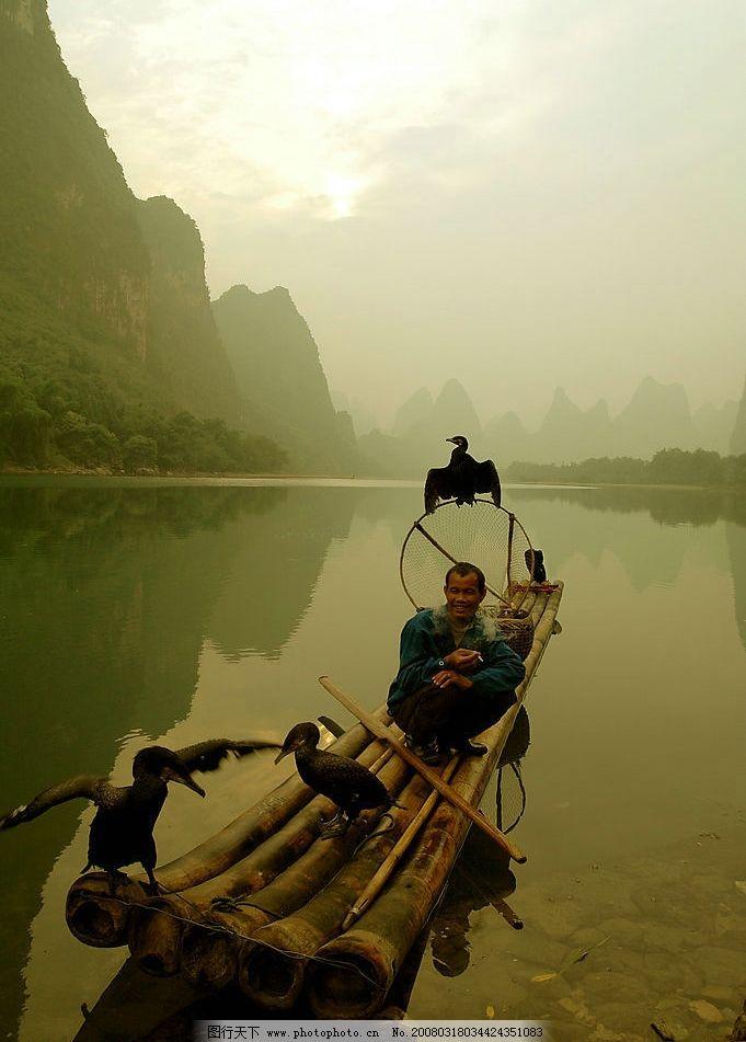 漓江渔歌 桂林,漓江,渔歌 自然景观 山水风景 桂林风光 摄影图库 300