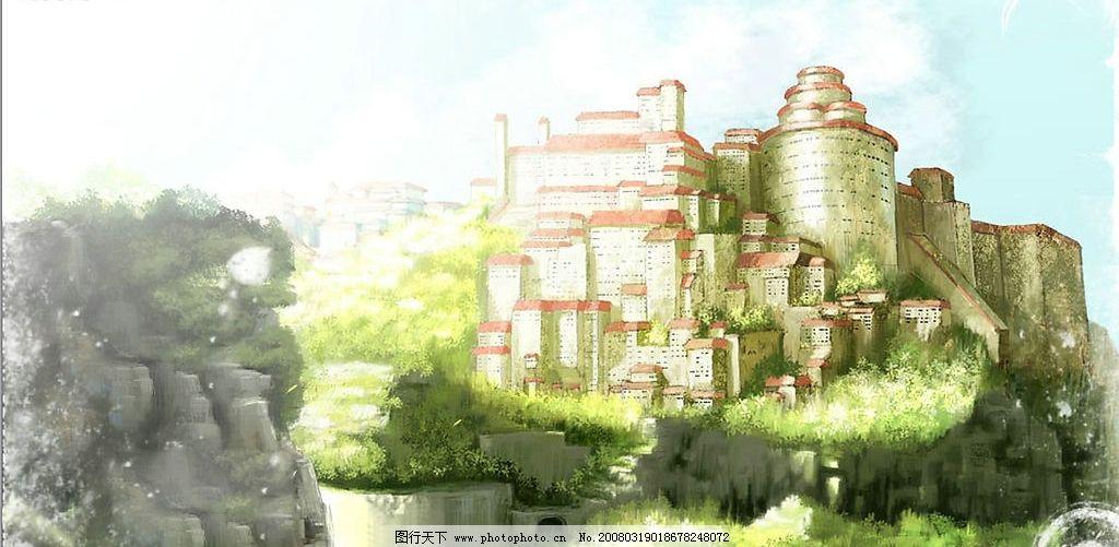 古堡 动漫动画 其他     设计图库 300 jpg