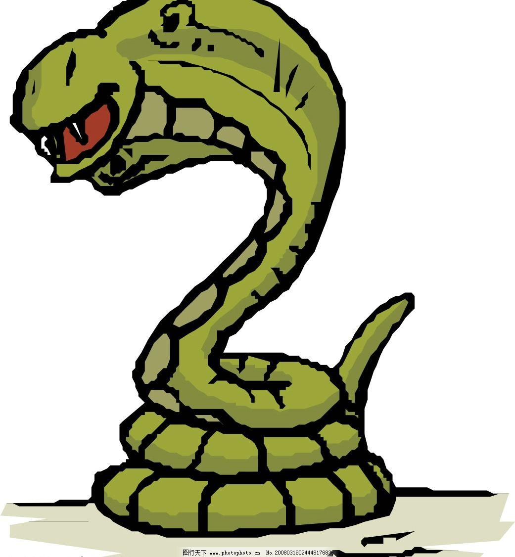 眼睛蛇 水底生物 动物 爬行动物 两栖动物 生物世界 野生动物 矢量