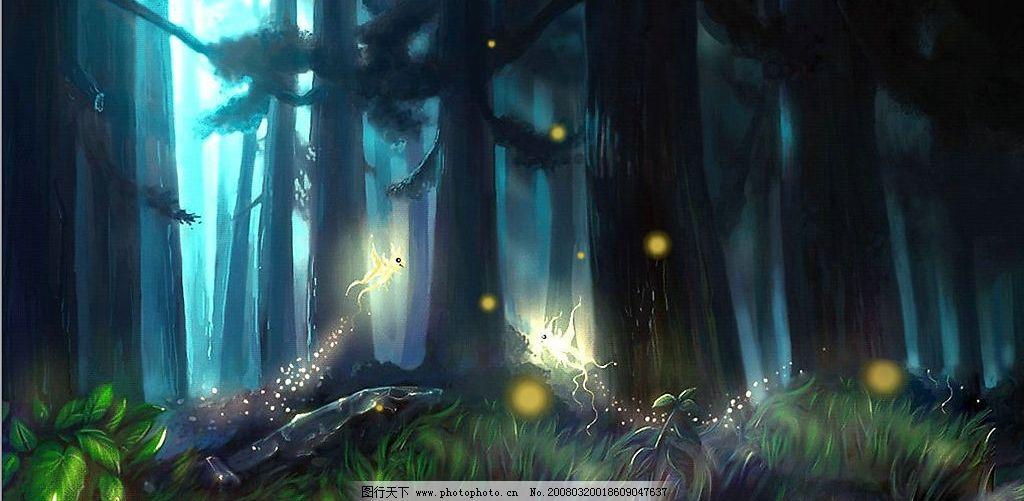 森林 大树 精灵 动漫动画 其他     设计图库 300 jpg