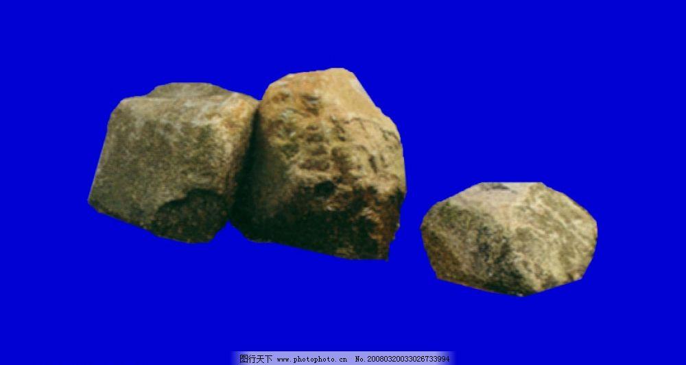 石头 psd分层素材 其他 园林素材 源文件库   psd