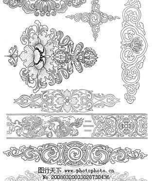 藏族装饰图案 藏族 装饰 花纹 图案 psd分层素材 其他 藏族装饰花纹