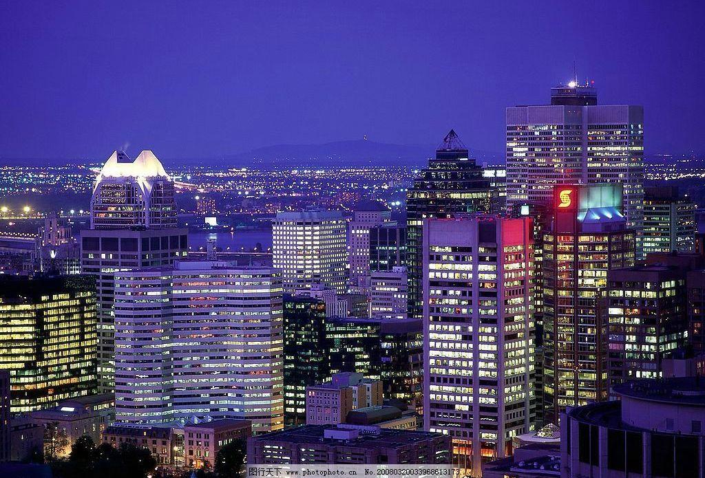 城市夜景 全景图片 宽幅图片 城市的黄昏景色 城市夜色 夜晚景色 城市