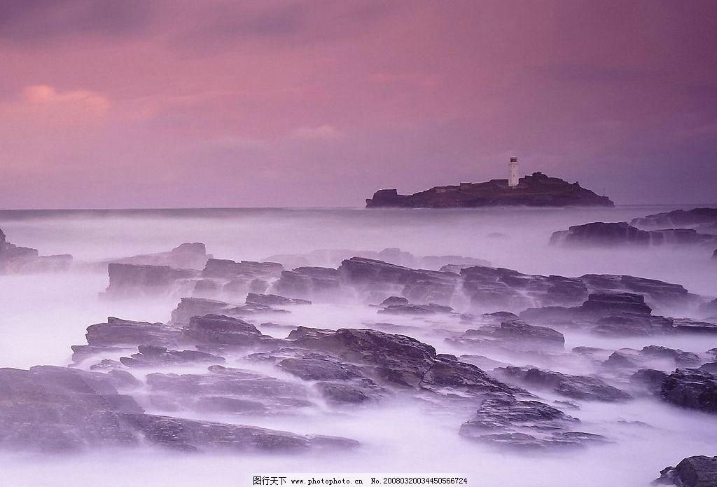 礁石/雾海礁石图片