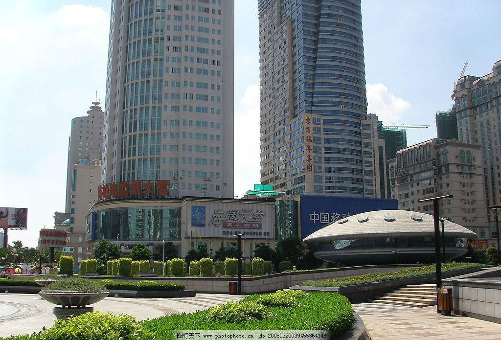 高樓綠樹 綠化 城市 南寧 廣場 大廈 現代 建筑園林 建筑攝影