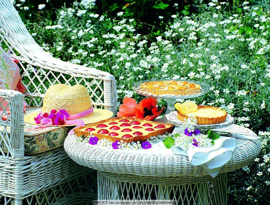 郊外聚餐 桌子 刀 自然景观 自然风景 摄影图库