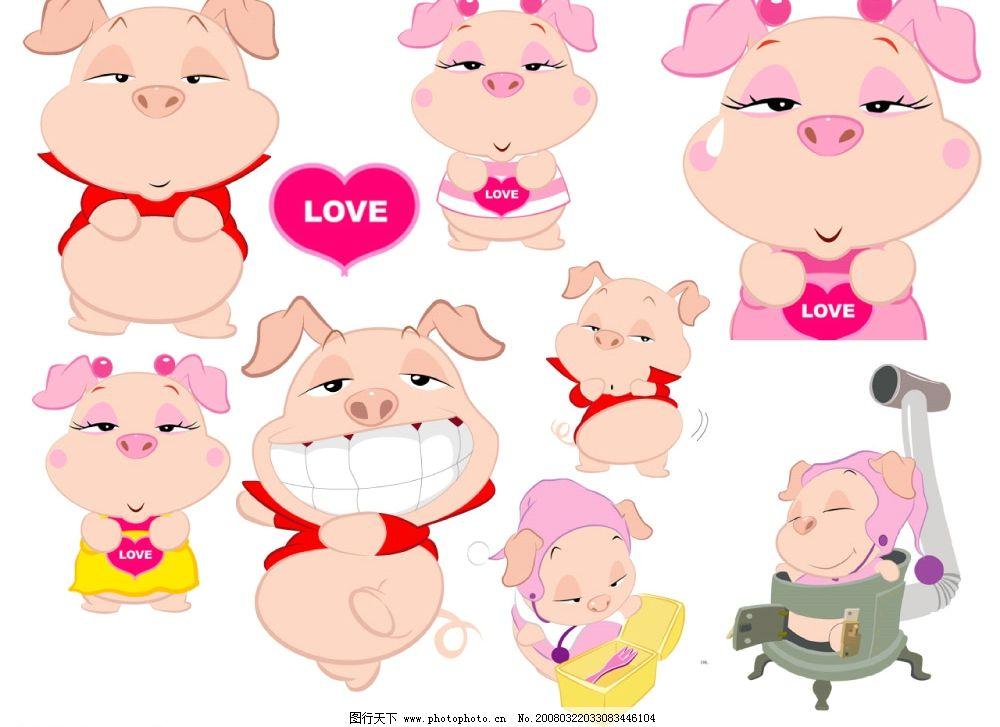 卡通猪1图片