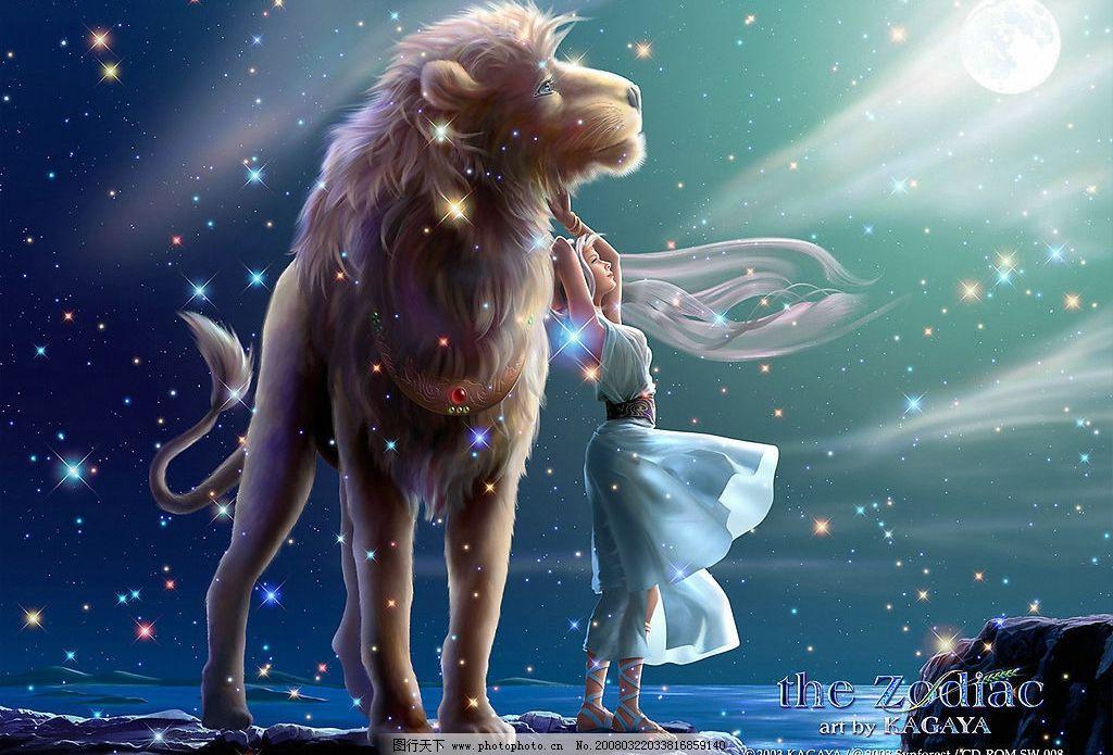十二星座 狮子座 动漫 其他 图片素材 设计图库 300 jpg