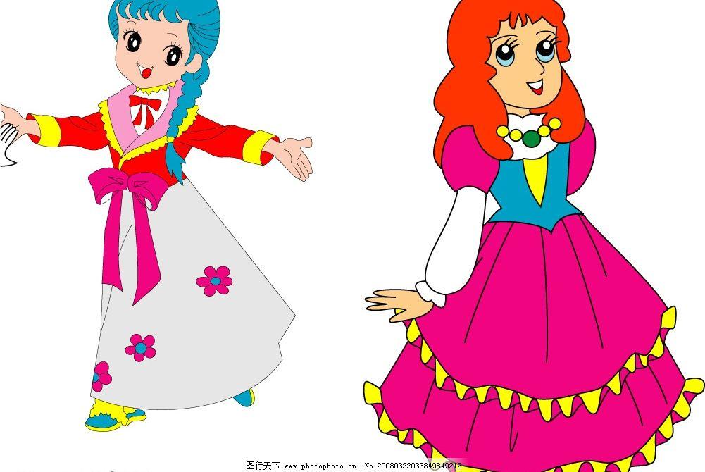 卡通女孩 跳舞 其他矢量 矢量素材 卡通矢量图 矢量图库   cdr