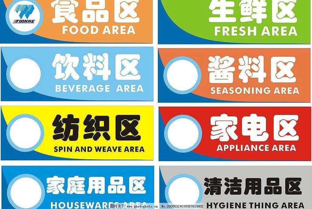 区域指示牌 区域指示牌 商场 分类 生鲜 食品 广告设计 海报设计 矢量