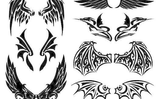 潮流翅膀图片免费下载 ai 潮流元素 翅膀 酷 其他矢量 矢量素材 矢量