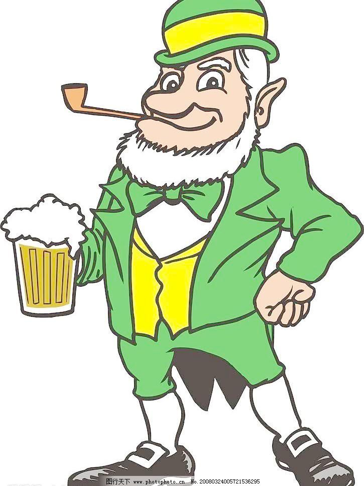 啤酒老人 啤酒老人图片免费下载 喝酒 老年 矢量人物 矢量图库