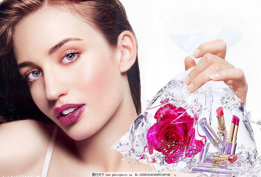 美宝莲广告 化妆品广告美女 创意广告 人物图库 人物写真 各类广告中