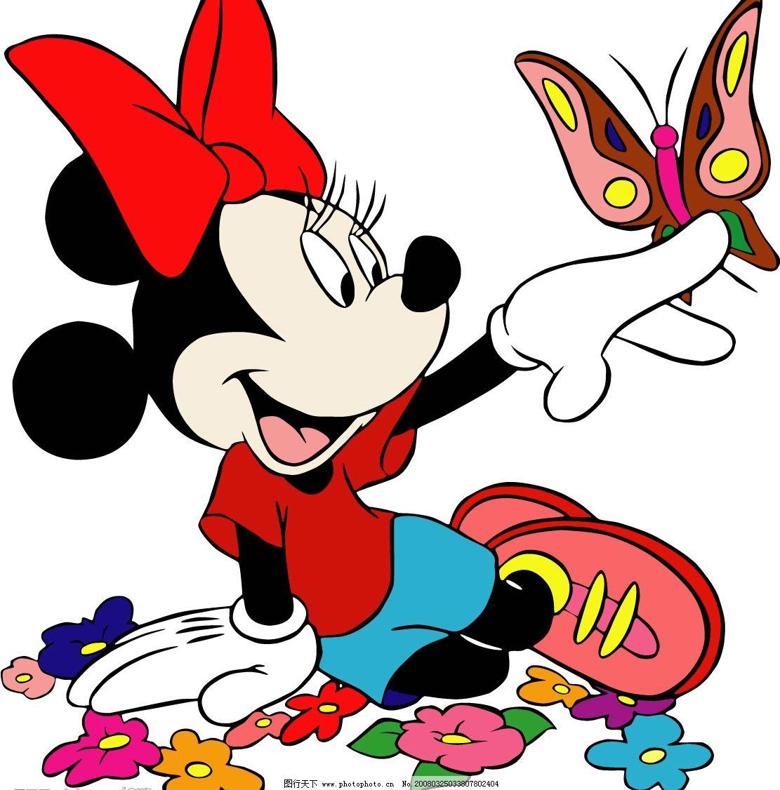 米老鼠 可爱的米尼老鼠 其他矢量 矢量素材 矢量图库