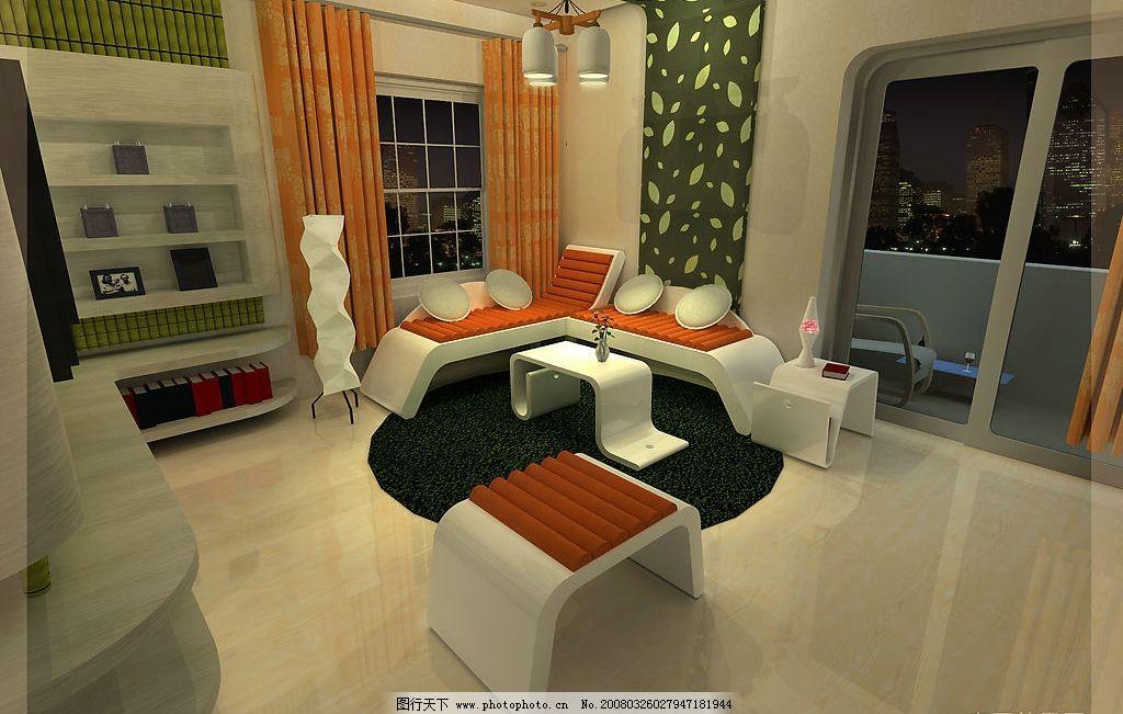 客厅环艺 环境设计 室内设计 3d效果图 设计图库 120 jpg