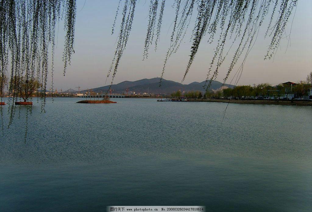 云龙湖之春 自然景观 山水风景 城市风光 徐州风光 春 山 青山 湖 柳
